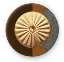 Chocolate RooPad Extreme - Maestro Star Airtight Solid Brass Resonator - Individual Pads