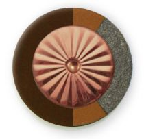 Chocolate RooPad Extreme - Maestro Star Airtight Solid Copper Resonator - Individual Pads