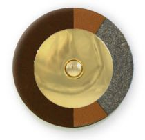 Chocolate RooPad Extreme - Gold Domed Metal Resonator - Individual Pads