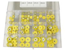 Double Yellow Skin Woven Flute Pad Assortments