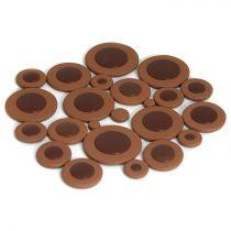 250 Piece Tan Pad Assortment- Domed Plastic Resonator