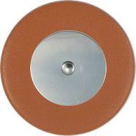 Tan Saxophone Pads - Flat Metal Resonator - Individual Pads