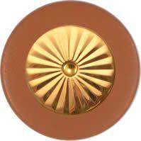 Tan Saxophone Pads - Maestro Star Airtight Gold Plated Resonator - Individual Pads