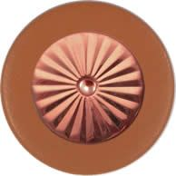 Tan Saxophone Pads - Maestro Star Airtight Solid Copper Resonator - Individual Pads
