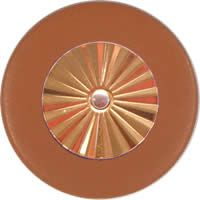 Tan Saxophone Pads - Maestro Star Classic Gold Plated Resonator - Individual Pads