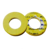 Double Yellow Skin Pressed Flute Pads - 2.5 - Open Hole - Individual Pads