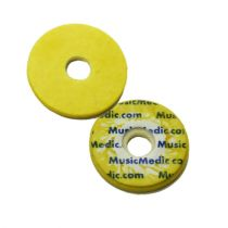 Double Yellow Skin Woven Flute Pads - 2.5 - Individual Pads