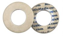 Double White Skin Woven Flute Pads - 2.5 - Open Hole - Individual Pads