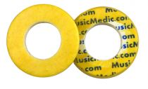 Double Yellow Skin Woven Flute Pads - 2.5 - Open Hole - Individual Pads