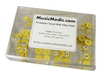 Double Yellow Skin Pressed Flute Pad Assortment