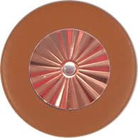 Tan Saxophone Pads - Maestro Star Classic Solid Copper Resonator - Individual Pads